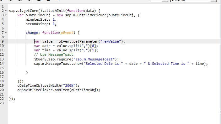 How to using sap m DateTimePicker - Neptune Software Community