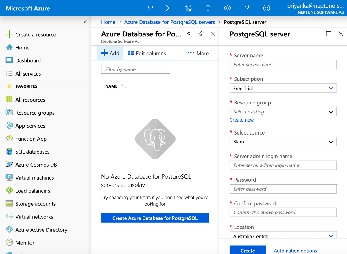 Install Planet 9 on Microsoft Azure - Neptune Software Community