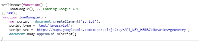 Loading external Javascript libraries in mobile App  Here GoogleMaps