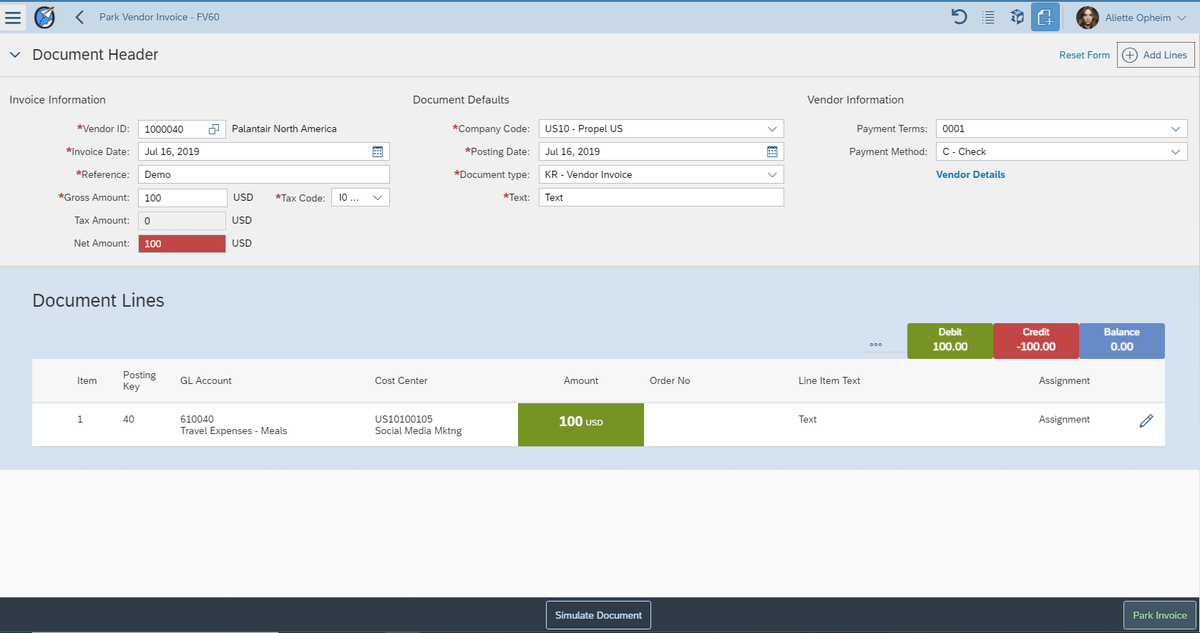 Accounting Fiori Apps - Neptune Partner Apps developed by Propel UX