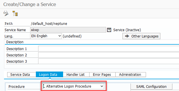 Basic authentication for mobile launchpad in a SAML-enabled