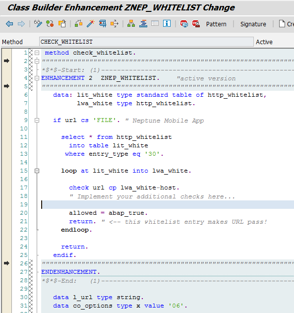 Whitelist for Clickjacking Framing Protection - Neptune Software