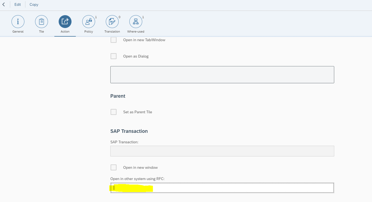 Call custom SAP Tcode from Neptune Launchpad tile (GW system